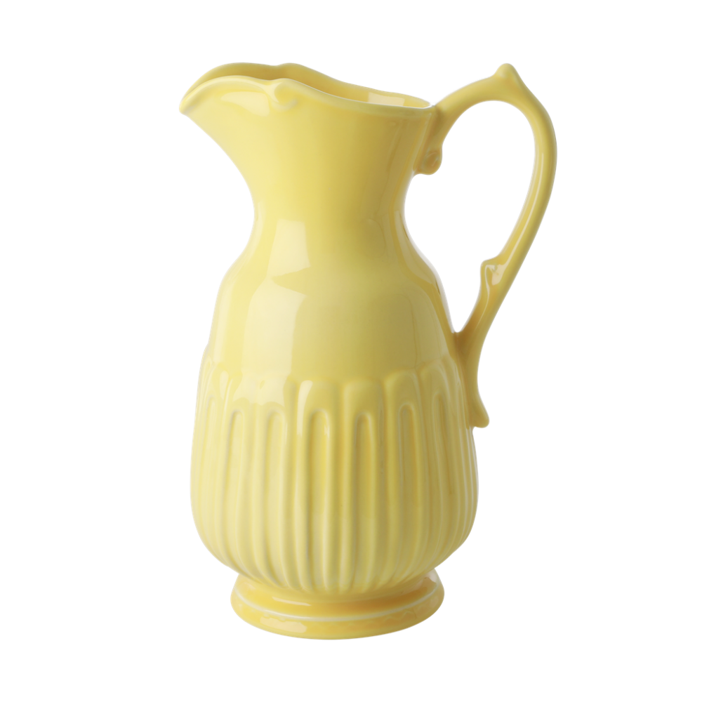 Yellow Ceramic Jug By Rice DK